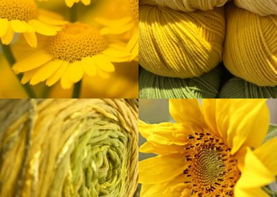 Wool & Yarn in nice yellow & green colours | yarndesign Kleve